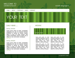 Green natural website template