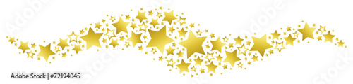 Banner with Golden Stars - 72194045