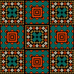 Abstract geometric background in ethnic style