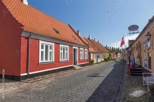 canvas print picture Rotes Haus Ærøskøbing