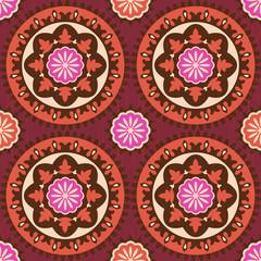 Suzani ethnic pattern