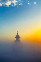 Morning mist over the church