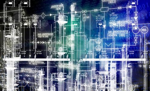 Fotobehang Industrial geb. Engineering industrial designing