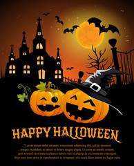Halloween Design template, with pumpkin