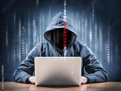 Leinwandbild Motiv password