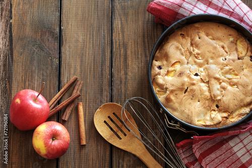 canvas print picture Apple pie