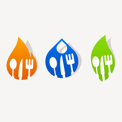 Abstract kitchen sign icon sticker