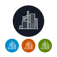 Business center icon, city icon,  vector illustration