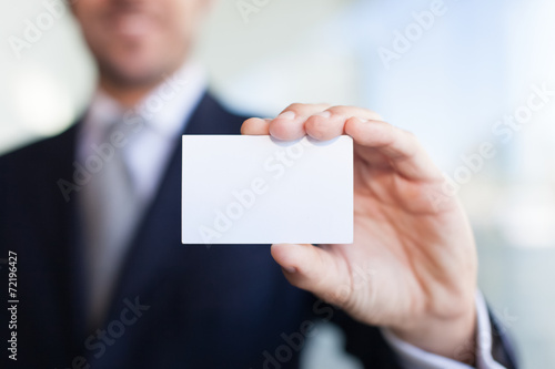 Leinwanddruck Bild Business card
