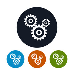 Gears icon, vector illustration