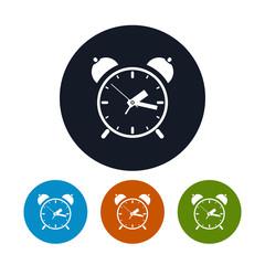 The alarm clock icon, vector illustration