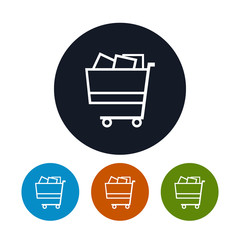 Cart icon, basket icon, vector illustration