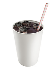 paper cup with cola