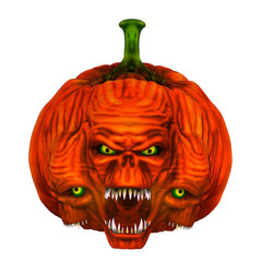 tête citrouille Halloween 6