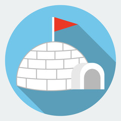 Vector igloo icon