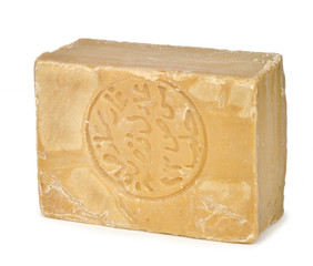 Bar of traditional Aleppo soap