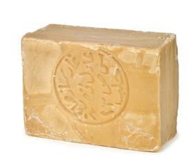 Bar of traditional Aleppo soap