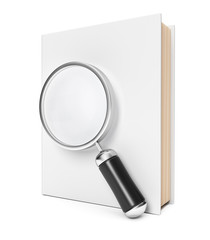 Book and magnifier