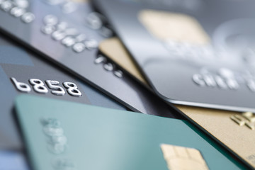 Credit Cards close-up  - Stock Image