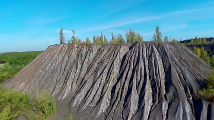 aerial. mountain of quartzite from height