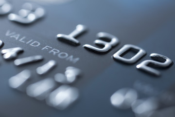 Credit card close-up - Stock Image