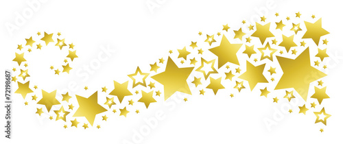 Banner with Golden Stars - 72198687