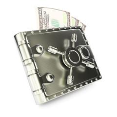 Steel wallet