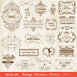 Christmas Calligraphic Design Elements and Page Decoration
