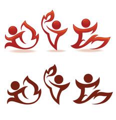 fireman,  people and symbols of flame