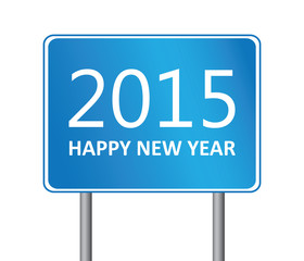 2015 new year traffic sign
