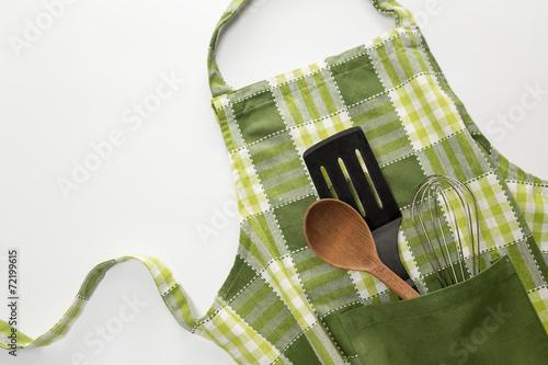 Kitchen apron and utensils - 72199615