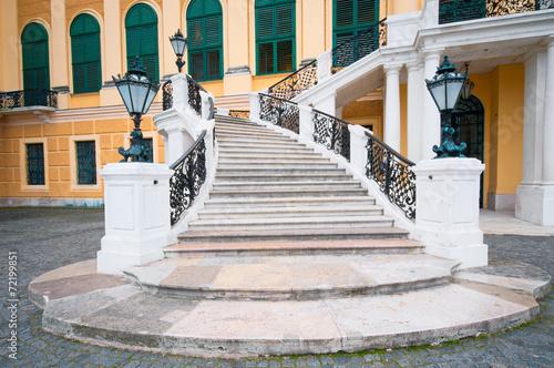 Staircase of Schonbrunn castle in Vienna - 72199851