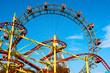Leinwanddruck Bild - Giant Ferris Wheel in Prater Park, Vienna