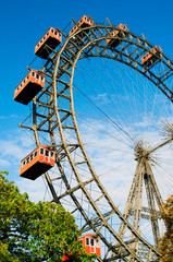 Giant Ferris Wheel in Prater Park, Vienna