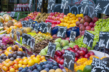 Fruit stall in market
