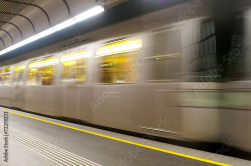 Moving subway train - 72200233