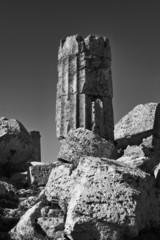 Italy, Sicily, Selinunte, Greek Hera Temple column (409 b.C.)