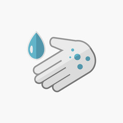 Hand Washing Flat Icon