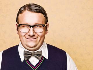 Portrait of male nerd