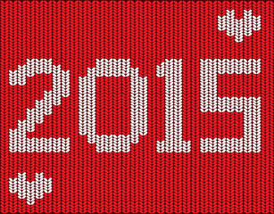 Knitted vector 2015 new year