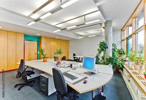 Leinwanddruck Bild Büro