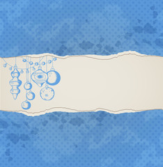 Background with decorations and torn paper