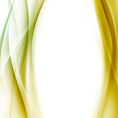 Golden swoosh wave background abstract template