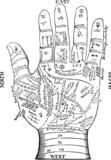 Vintage Graphic Palmistry chiromancy