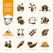 Farm and butcher shop icon set - 72203008