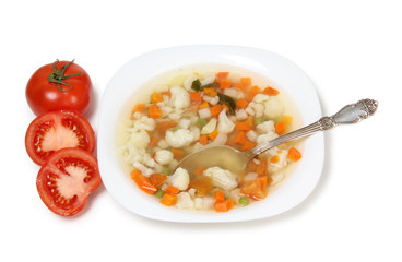 Soup and tomatos