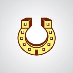 Lucky house vector logo design