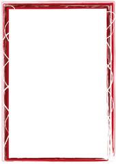 Rahmen rot Striche weiß