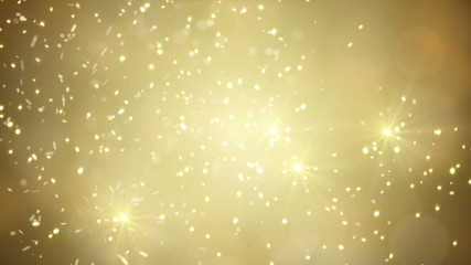 flying gold sparklers loopable festive background