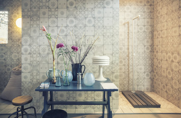 designed bath room